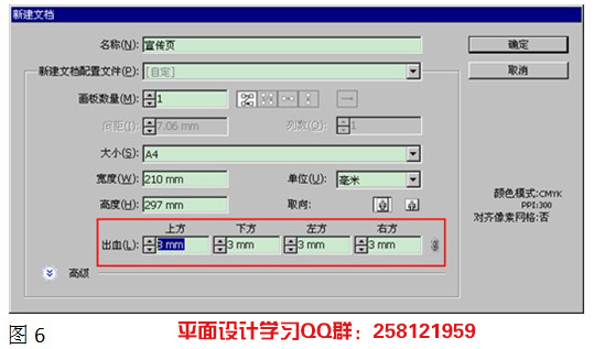 Adobe Illustrator CS5中出血的设置
