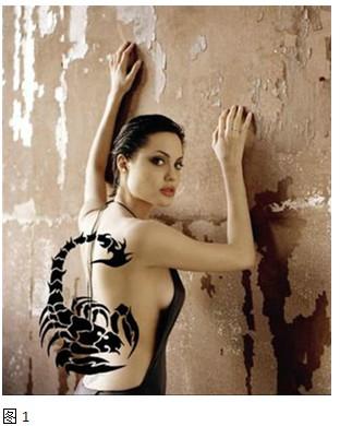 女添加超酷蝎子纹身效果